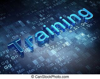 Education concept: Blue Training on digital background