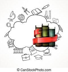 Education concept Books vector illustration