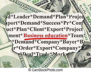 Education concept: Business Education on Money