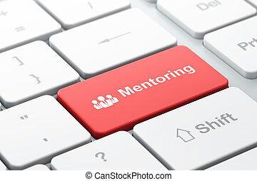 Education concept: Business People and Mentoring on computer...
