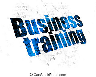 Education concept: Business Training on Digital background