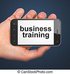 Education concept: Business Training on smartphone