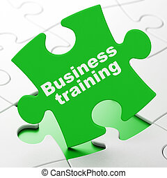Education concept: Business Training on puzzle background