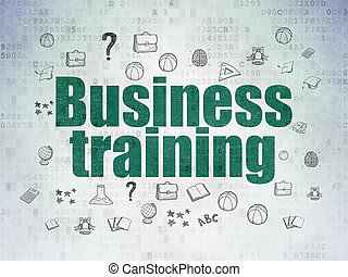 Education concept: Business Training on Digital Data Paper background
