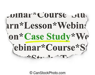 Education concept: Case Study on Paper background -...