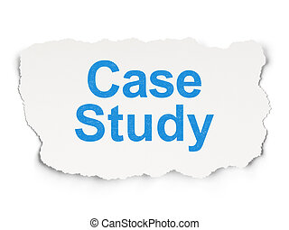 Education concept: Case Study on Paper background