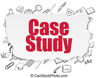 Education concept: Case Study on Torn Paper background