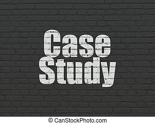 Education concept: Case Study on wall background