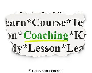 Education concept: Coaching on Paper background