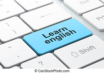 Education concept: computer keyboard with Learn English