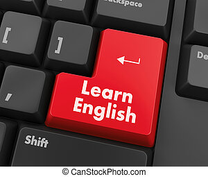 Learn English - Education concept: computer keyboard with ...
