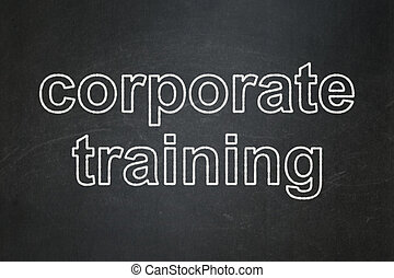 Education concept: Corporate Training on chalkboard background