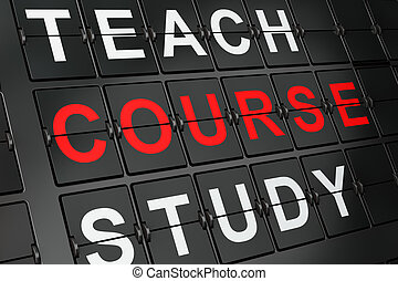 Education concept: Course on airport board background