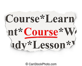 Education concept: Course on Paper background