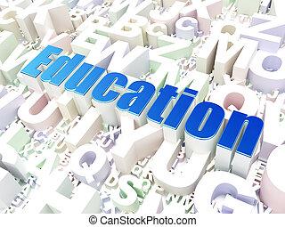 Education concept: Education on alphabet background