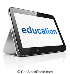Education concept: Education on tablet pc computer