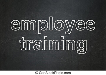Education concept: Employee Training on chalkboard background