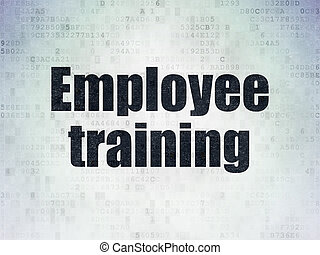 Education concept: Employee Training on Digital Data Paper background