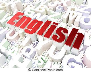 Education concept: English on alphabet background
