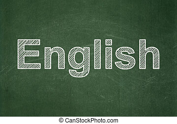 Education concept: English on chalkboard background