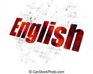 Education concept: English on Digital background