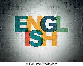 Education concept: English on Digital Data Paper background