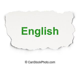 Education concept: English on Paper background