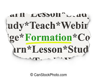 Education concept: Formation on Paper background
