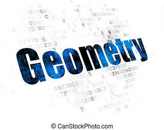 Education concept: Geometry on Digital background