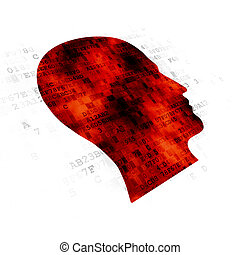 Education concept: Head on Digital background