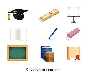 education concept icon set