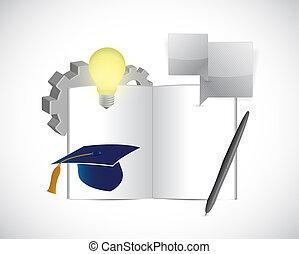 Education concept illustration design
