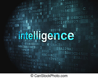 Education concept: Intelligence on digital background -...