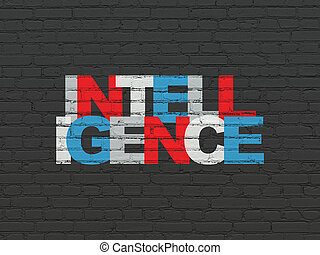 Education concept: Intelligence on wall background