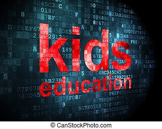 Education concept: Kids Education on digital background