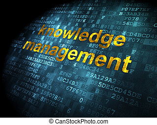 Education concept: Knowledge Management on digital background