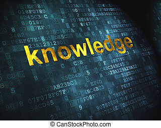 Education concept: Knowledge on digital background -...