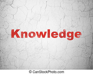 Education concept: Knowledge on wall background