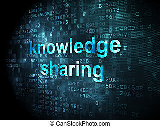 Education concept: Knowledge Sharing on digital background