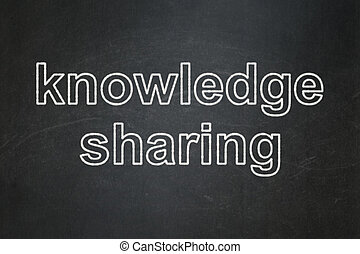 Education concept: Knowledge Sharing on chalkboard background