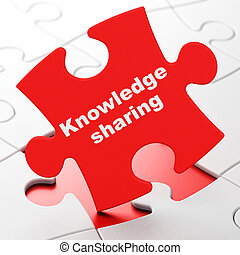Education concept: Knowledge Sharing on puzzle background