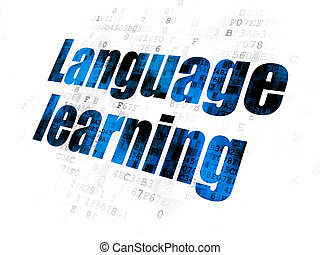 Education concept: Language Learning on Digital background
