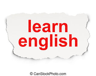 Education concept: Learn English on Paper background