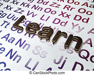 Education concept:  Learn on Alphabet background