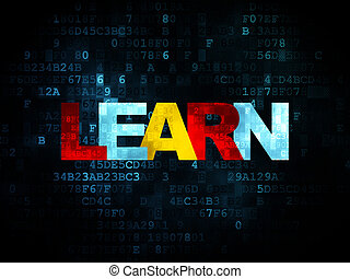 Education concept: Learn on Digital background