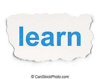 Education concept: Learn on Paper background