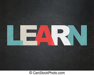 Education concept: Learn on School Board background