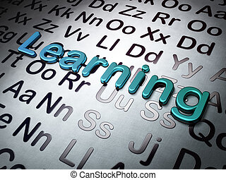 Education concept:  Learning on Alphabet background