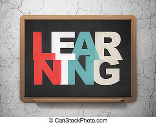 Education concept: Learning on School Board background