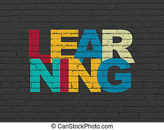 Education concept: Learning on wall background